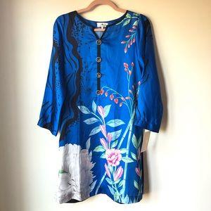 Dresses & Skirts - Floral Sari dress